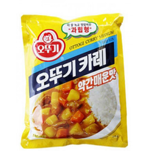 OTTOGI CURRY POWDER-MED HOT 분말카레(약간메운맛)500g   01178