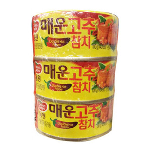 DONGWON CANNED TUINA IN EXTRA HOT SAUCE 매운고추참치300g   DW149